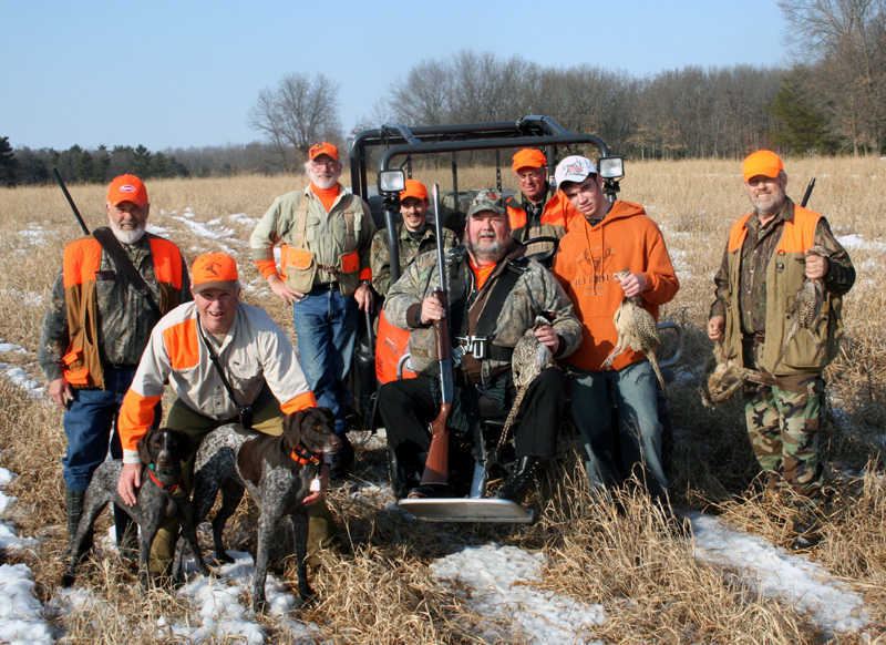 upland game hunting - hunting party
